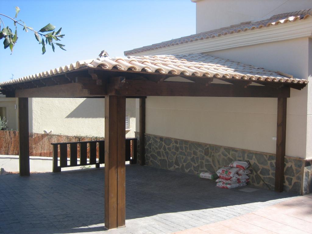 Construcci n cenadores construcci n porches for Fotos de barbacoas de obra para jardin