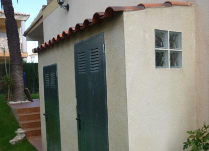 Caseta para depurador construcci n de piscinas - Casetas de obra para jardin ...
